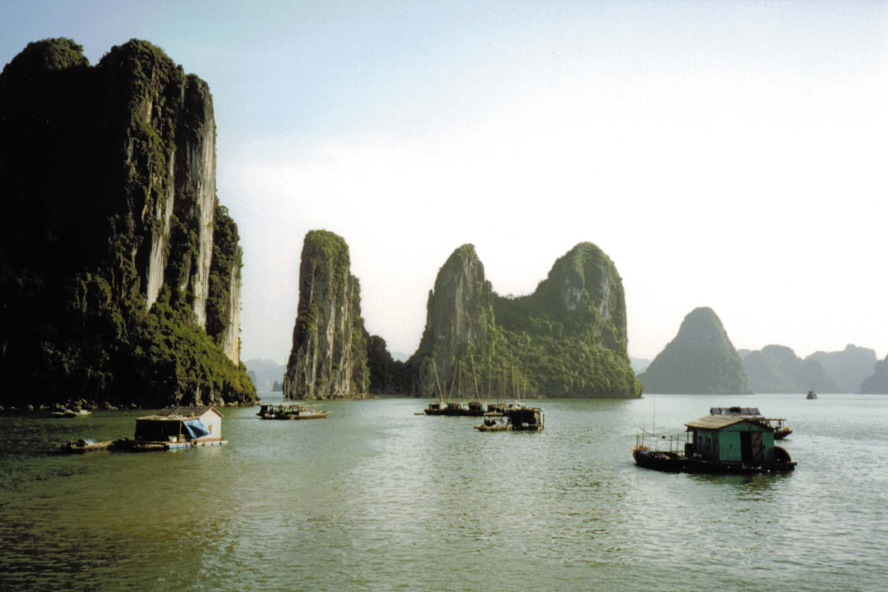 Floating boat houses (Halong Bay, Vietnam) - From the front cover